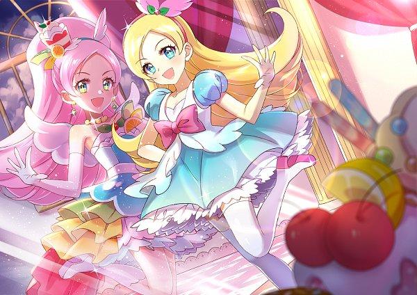 Tags: Anime, Xing, Kirakira☆Precure a la Mode, Cure Parfait, Kirarin (Precure), Kirahoshi Ciel, Lemon, Pixiv, Fanart, Fanart From Pixiv