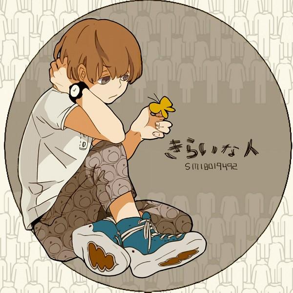 Tags: Anime, Pixiv Id 2822646, Bis, Butterfly on Hand, Animal on Hand, Fanart, Kirai na Hito, Nico Nico Singer, Pixiv, People I Hate