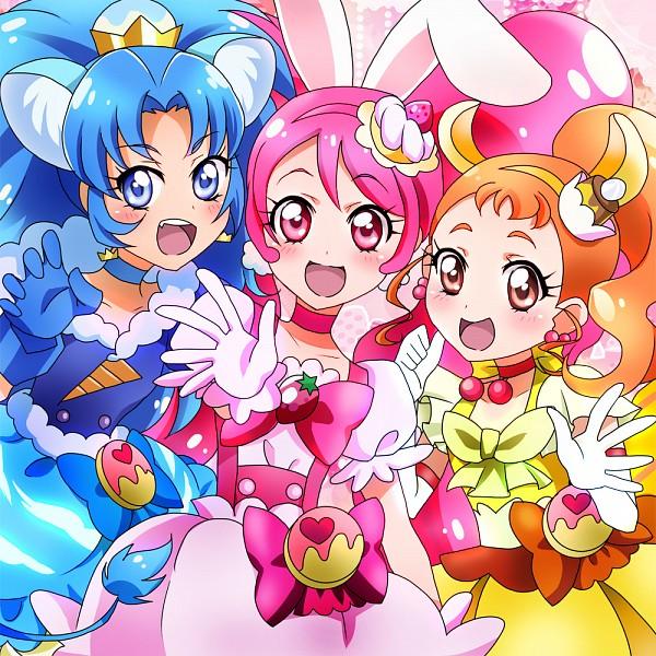 Tags: Anime, Masami (Artist), Kirakira☆Precure a la Mode, Cure Whip, Cure Gelato, Tategami Aoi, Cure Custard, Arisugawa Himari, Usami Ichika, Risumimi, Fanart, Twitter, Fanart From Pixiv