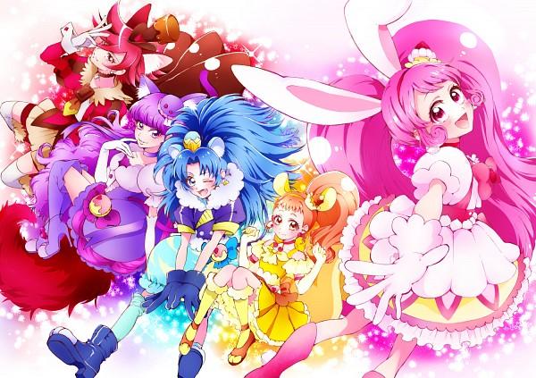Tags: Anime, Pixiv Id 4996595, Kirakira☆Precure a la Mode, Cure Chocolat, Arisugawa Himari, Cure Macaron, Usami Ichika, Cure Gelato, Kotozume Yukari, Cure Custard, Kenjou Akira, Cure Whip, Tategami Aoi