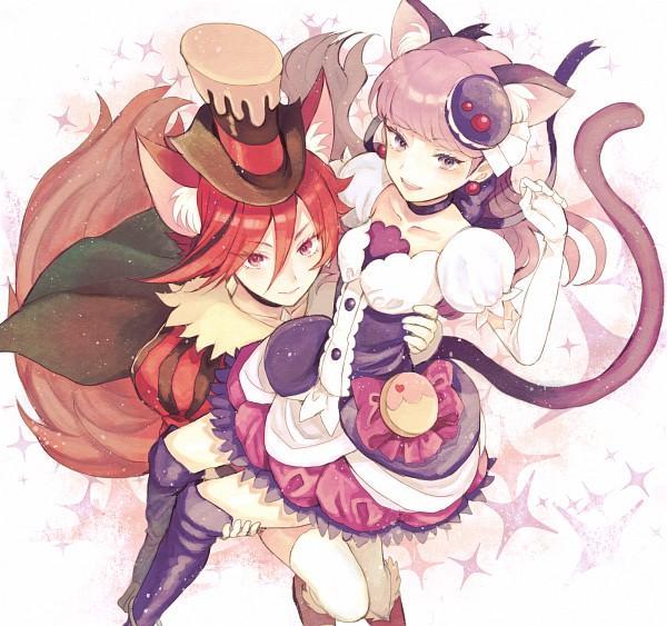 Tags: Anime, Kurodeko, Kirakira☆Precure a la Mode, Kenjou Akira, Kotozume Yukari, Cure Chocolat, Cure Macaron, Dog Tail, Fanart, Fanart From Pixiv, Pixiv