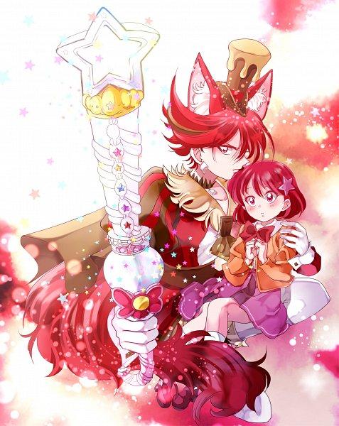 Tags: Anime, Pixiv Id 6096383, Kirakira☆Precure a la Mode, Kenjou Miku, Kenjou Akira, Cure Chocolat, Fanart From Pixiv, Pixiv, Fanart