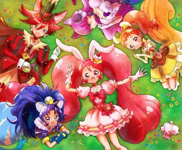 Tags: Anime, Pixiv Id 1706251, Kirakira☆Precure a la Mode, Usami Ichika, Cure Macaron, Kotozume Yukari, Cure Gelato, Kenjou Akira, Pekorin, Cure Custard, Tategami Aoi, Cure Whip, Arisugawa Himari