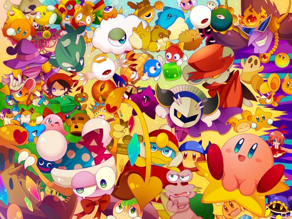 Tags: Anime, Pixiv Id 1845342, Kirby Series, Paint Roller (Kirby), Dyna Blade, Magolor, Waddle Doo, Scarfy, Prince Fluff, Waddle Dee, Chef Kawasaki, Kirby, Ribbon (Kirby)