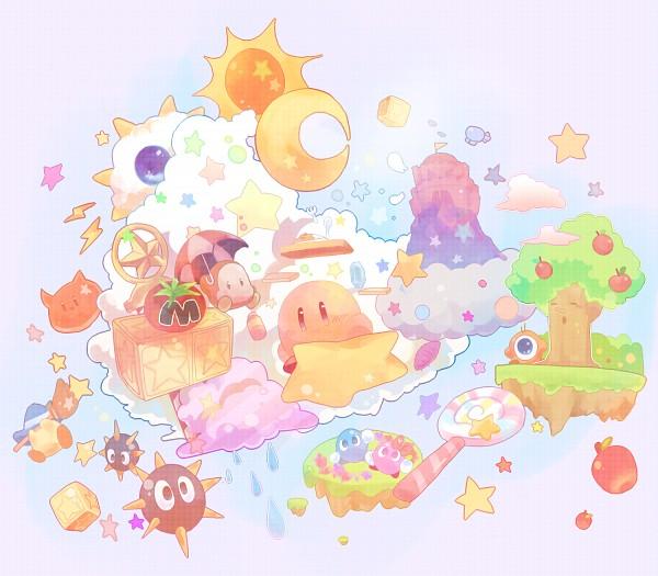 Tags: Anime, Pixiv Id 816236, Kirby Series, Kirby, Waddle Doo, Gordo (Kirby), Waddle Dee, Scarfy, Fanart From Pixiv, Pixiv, Fanart