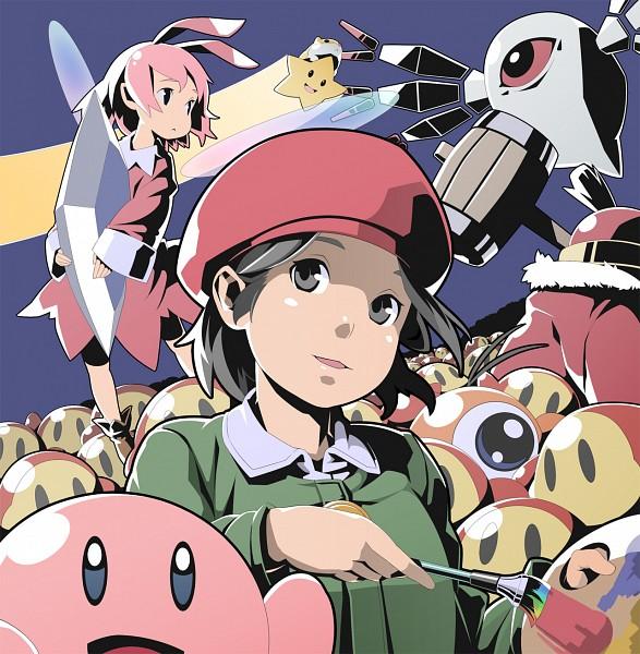 Tags: Anime, Pixiv Id 3451552, Kirby Series, Waddle Doo, Adeleine, Waddle Dee, Ribbon (Kirby), King Dedede, Zero Two, King, Hamster, Pixiv, Fanart