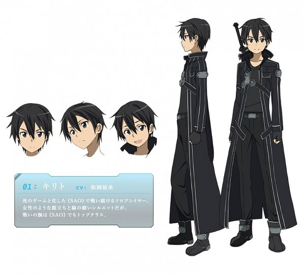 Tags: Anime, Adachi Shingo, A-1 Pictures, Sword Art Online, Kirigaya Kazuto, Official Art, Official Character Information, Character Sheet