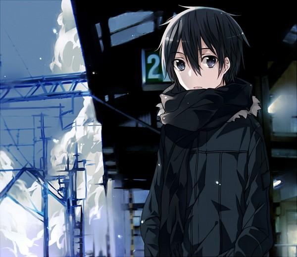 Tags: Anime, Silcener, Sword Art Online, Kirigaya Kazuto, Station, PNG Conversion, Pixiv, Fanart From Pixiv, Fanart