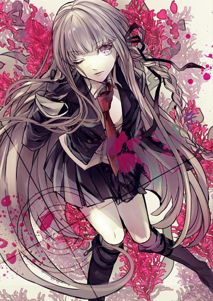 Tags: Anime, Kizuna Black15, Danganronpa, Kirigiri Kyouko, Purple Jacket, Mobile Wallpaper, Fanart From Pixiv, Pixiv, Fanart