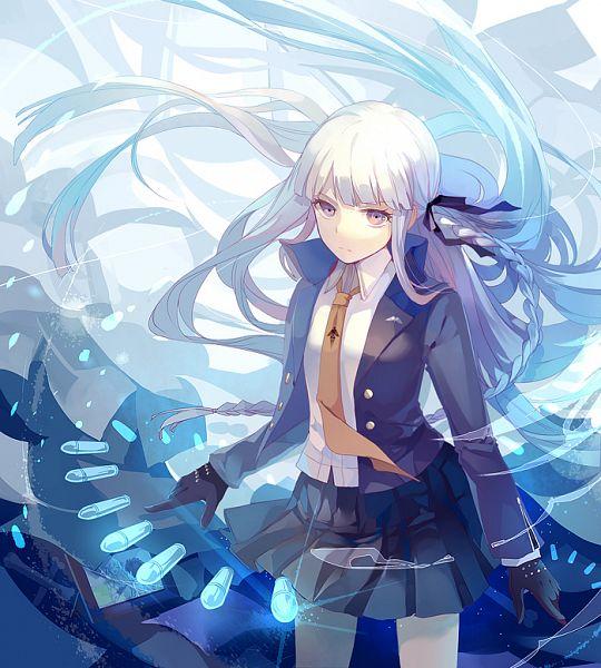 Tags: Anime, Dhiea (Pixiv270545), Danganronpa, Kirigiri Kyouko, Bullets, Pixiv, Fanart From Pixiv, Fanart