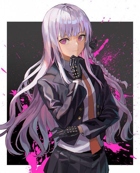 Tags: Anime, Pixiv Id 3862634, Danganronpa, Kirigiri Kyouko, Leather Gloves, Leather Jacket, Pixiv, Fanart From Pixiv, Fanart