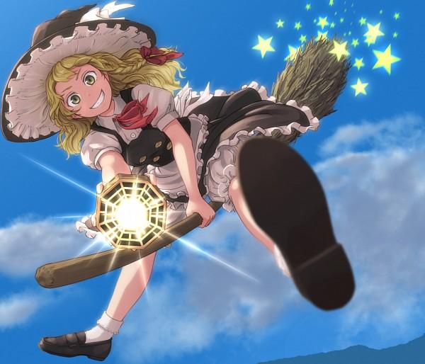 Tags: Anime, Kitano, Touhou, Kirisame Marisa, Master Spark, Mini-Hakkero, Pixiv, Fanart From Pixiv, Fanart, PNG Conversion, Marisa Kirisame