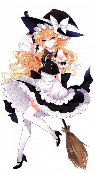 Tags: Anime, Sheya, Touhou, Kirisame Marisa, Holding Broom, Brown Neckwear, One Arm Behind Back, Brown Bow, Pixiv, Fanart, Fanart From Pixiv, Marisa Kirisame