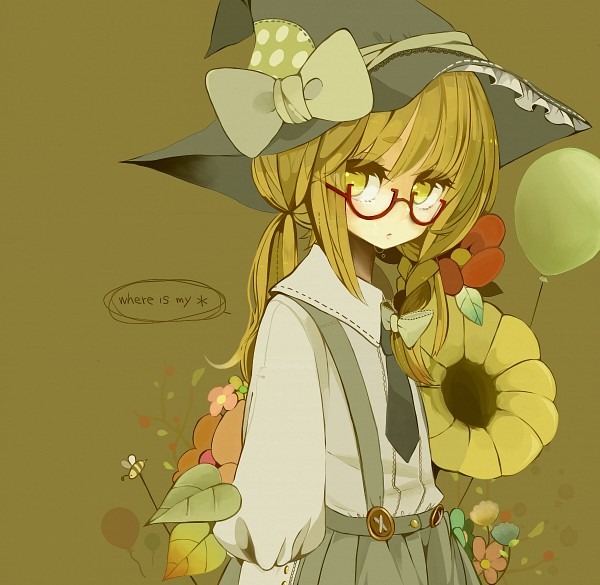 Tags: Anime, Purinto, Touhou, Kirisame Marisa, Contemporary, Gray Hat, Gray Headwear, Bee, Gray Skirt, Lace Trim, Pixiv, Marisa Kirisame