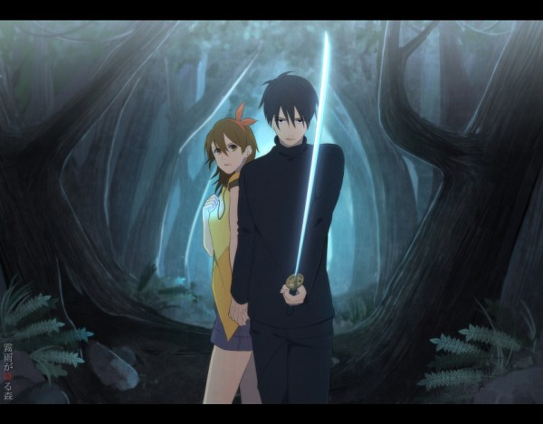 Tags: Anime, Pixiv Id 9192186, Kirisame ga Furu Mori, Kanzaki Shiori, Suga Kotaro, Forest Of Drizzling Rain