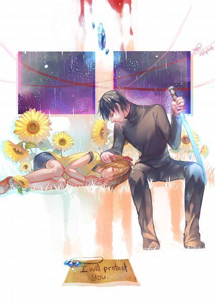 Tags: Anime, Clivef, Kirisame ga Furu Mori, Kanzaki Shiori, Suga Kotaro, Fanart, Fanart From Pixiv, Pixiv, Forest Of Drizzling Rain
