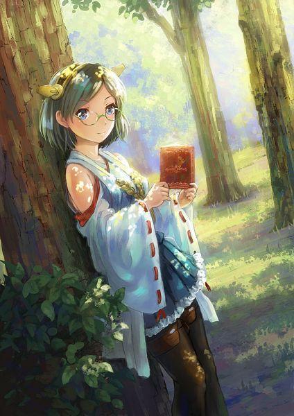 Tags: Anime, Miyai Haruki, Kantai Collection, Kirishima (Kantai Collection), Fanart From Pixiv, Mobile Wallpaper, Pixiv, Fanart