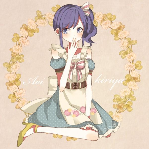 Tags: Anime, Pixiv Id 3547963, Aikatsu!, Kiriya Aoi, Beige Background, Pixiv, Fanart, Fanart From Pixiv