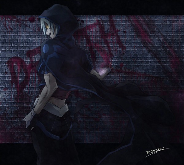 Tags: Anime, Pixiv Id 369216, Yu-Gi-Oh! 5D's, Yu-Gi-Oh!, Kiryu Kyousuke, Dark Signer Uniform, Brick Wall, Kalin Kessler