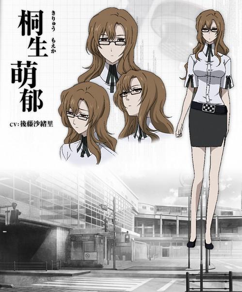 Tags: Anime, Nitro+, Steins;Gate, Kiryu Moeka, Character Sheet, Sketch, Official Art
