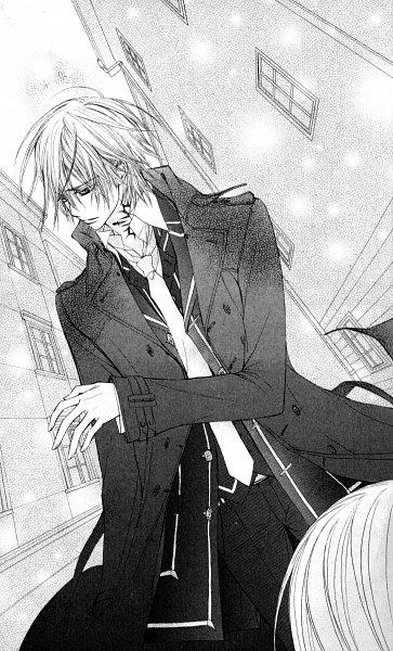 Tags: Anime, Hino Matsuri, Vampire Knight, Kiryuu Zero, Trench Coat, Manga Page, Scan, Mobile Wallpaper, Official Art