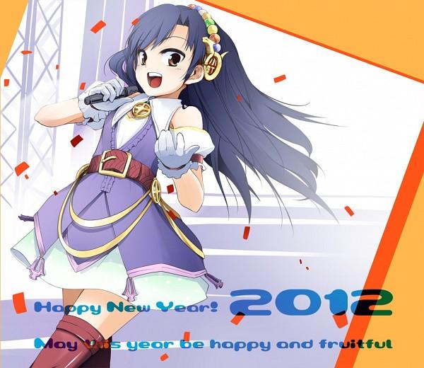 Tags: Anime, Momo (Higanbana And Girl), THE iDOLM@STER, Kisaragi Chihaya, Happy 2012