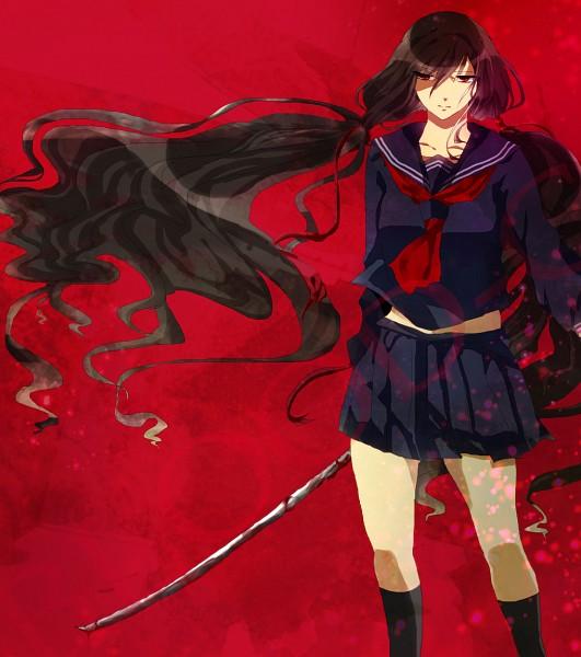 Tags: Anime, Pixiv Id 4423373, Blood-C, Kisaragi Saya, Fanart From Pixiv, Pixiv, Fanart