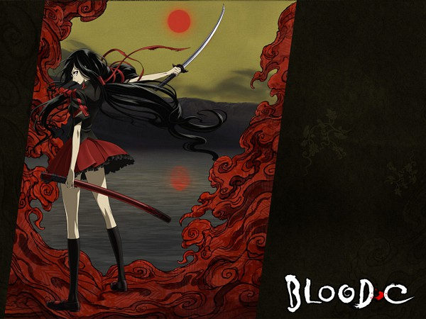 Tags: Anime, Blood-C, Kisaragi Saya, Official Art, Wallpaper