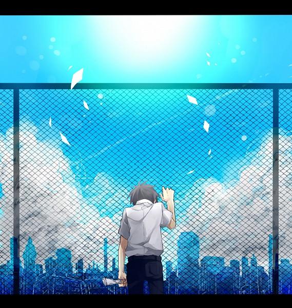 Tags: Anime, Mukaiyama, Kagerou Project, Kisaragi Shintaro, Face Down, Skyscraper, Pixiv, Fanart, Shintaro Kisaragi