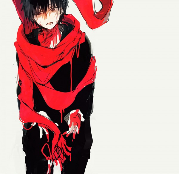 Tags: Anime, Nuriko-kun, Kagerou Project, Kisaragi Shintaro, Floating Scarf, Shaded Face, Tumblr, Fanart From Tumblr, PNG Conversion, Fanart, Shintaro Kisaragi