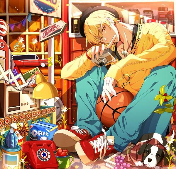 Tags: Anime, Yuna (Rutera), Kuroko no Basuke, Kise Ryouta, Radio, Grapes, Oreo (Food), Western, Toy Car, Tumblr, Fanart From Pixiv, Fanart, Pixiv