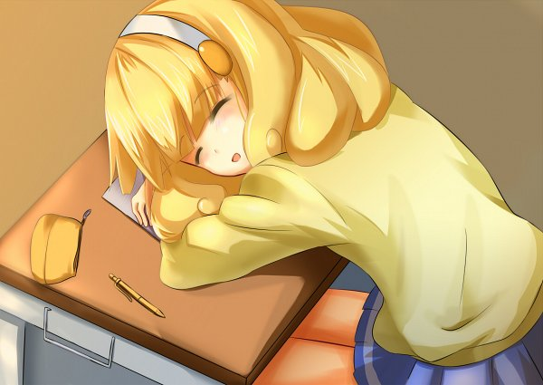 Tags: Anime, Pixiv Id 2937575, Smile Precure!, Kise Yayoi, Laying Head On Desk, Mechanical Pencil, School Desk, Head In Arms, Stationery, Fanart From Pixiv, Pixiv, Fanart