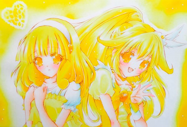 Tags: Anime, Pixiv Id 835668, Smile Precure!, Cure Peace, Kise Yayoi, Yellow, Fanart, Fanart From Pixiv, Pixiv