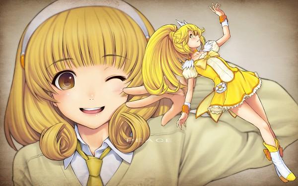 Tags: Anime, Kazuma Muramasa, Smile Precure!, Kise Yayoi, Cure Peace, 1600x1000 Wallpaper, Wallpaper, Fanart