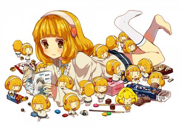 Tags: Anime, Rabbitcapsule, Smile Precure!, Cure Peace, Kise Yayoi, Confused, = =, Pixiv, Fanart, Fanart From Pixiv