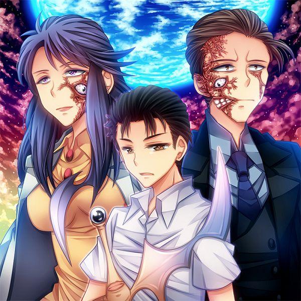 Tags: Anime, Momofukki, Kiseijuu, Tamura Reiko, Migi (Kiseijuu), Izumi Shinichi, Fanart From Pixiv, Pixiv, Fanart, Parasyte -the Maxim-