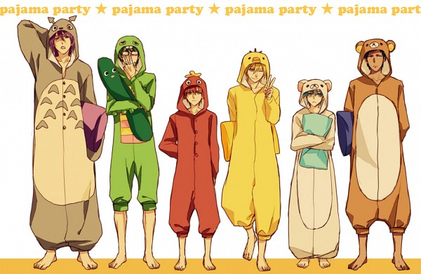 Tags: Anime, Akixx, Kuroko no Basuke, Akashi Seijuurou, Kise Ryouta, Aomine Daiki, Murasakibara Atsushi, Kuroko Tetsuya, Midorima Shintarou, Bird Costume, Mukku (Cosplay), Kigurumi, Totoro (Cosplay), Generation Of Miracles