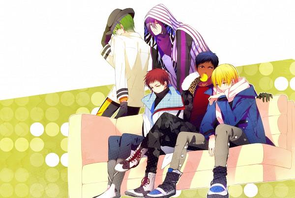 Tags: Anime, hakusai, Kuroko no Basuke, Midorima Shintarou, Kise Ryouta, Akashi Seijuurou, Aomine Daiki, Murasakibara Atsushi, Pixiv, Kiseki no Sedai, Generation Of Miracles