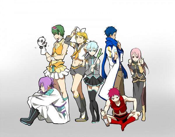 Tags: Anime, Pixiv Id 3986366, Kuroko no Basuke, Kuroko Tetsuya, Akashi Seijuurou, Midorima Shintarou, Momoi Satsuki, Kise Ryouta, Aomine Daiki, Murasakibara Atsushi, Kamui Gakupo (Cosplay), Megurine Luka (Cosplay), GUMI (Cosplay), Generation Of Miracles