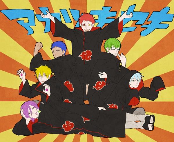 Tags: Anime, Umashima, Kuroko no Basuke, Akashi Seijuurou, Kise Ryouta, Aomine Daiki, Murasakibara Atsushi, Kuroko Tetsuya, Midorima Shintarou, NARUTO (Parody), Akatsuki (NARUTO) (Cosplay), Fanart From Pixiv, Pixiv, Generation Of Miracles