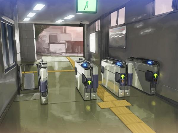 Tags: Anime, Kitada Ryouma, Train Interior, Train Station, Pixiv, Original