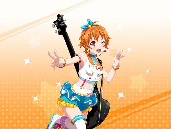 Tags: Anime, Craft Egg, BanG Dream! Girls Band Party!, Kitazawa Hagumi, Official Card Illustration, Official Art