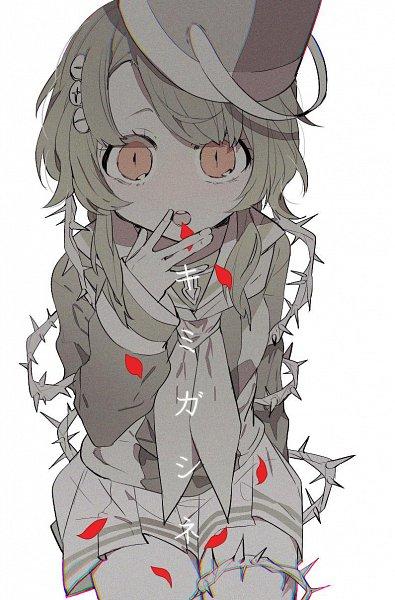 Tags: Anime, 10mae0, Kimi ga Shine, Kizuchi Kanna, Screws, Hanahaki Disease, Brambles, Bucket, Wide Eyes, Twitter, Fanart, Kanna Kizuchi