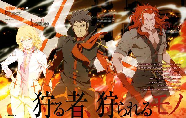 Tags: Anime, Shaft (Studio), Kizumonogatari, Monogatari, Kizumonogatari I: Tekketsu-hen, Episode (Monogatari), Guillotine Cutter, Dramaturgie (Monogatari), Official Art, Scan