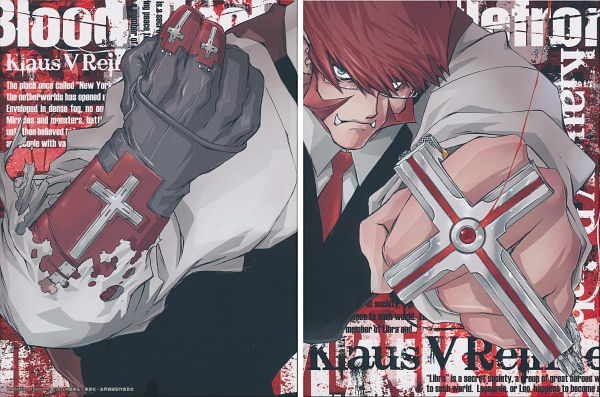 Tags: Anime, Nightow Yasuhiro, BONES (Studio), Kekkai Sensen, Klaus V. Reinherz, DVD (Source), Official Art, Scan