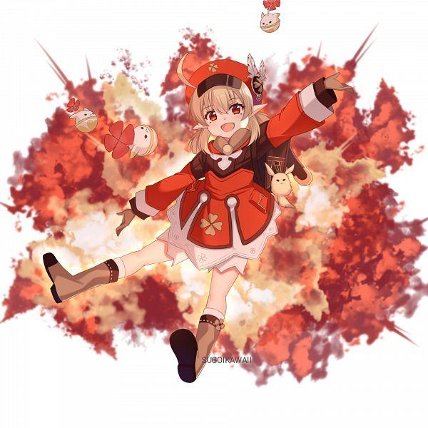 Tags: Anime, Pixiv Id 55064650, Genshin Impact, Klee (Genshin Impact), 1920x1920 Wallpaper, Explosion, Wallpaper
