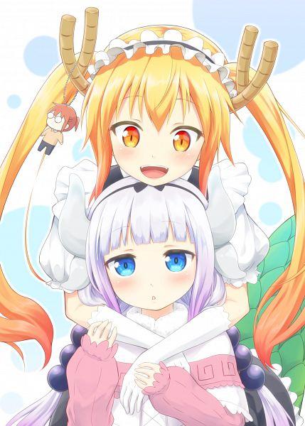 Tags: Anime, Pixiv Id 5972414, Kobayashi-san Chi no Maid Dragon, Kanna Kamui, Kobayashi (Kobayashi-san Chi no Maid Dragon), Tooru (Kobayashi-san Chi no Maid Dragon), Mobile Wallpaper, Miss Kobayashi's Dragon Maid
