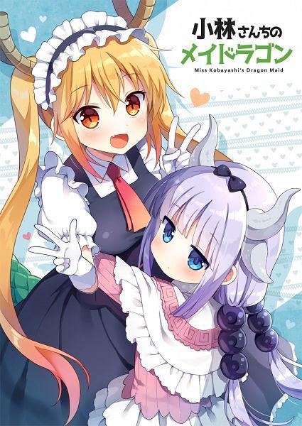 Tags: Anime, Mauve, Kobayashi-san Chi no Maid Dragon, Tooru (Kobayashi-san Chi no Maid Dragon), Kanna Kamui, Mobile Wallpaper, Miss Kobayashi's Dragon Maid