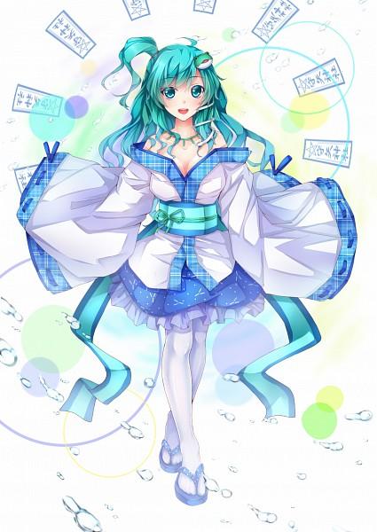 Tags: Anime, Dabadhi, Touhou, Kochiya Sanae, Crossed Legs (Standing), Pentagram, PNG Conversion, Fanart, Mobile Wallpaper, Pixiv, Sanae Kochiya