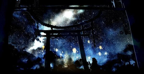 Tags: Anime, Pixiv Id 4678572, Touhou, Kochiya Sanae, Shrine, Wallpaper, Facebook Cover, Sanae Kochiya